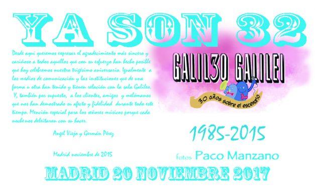 32 cumpleaños de la Sala Galileo Galilei.