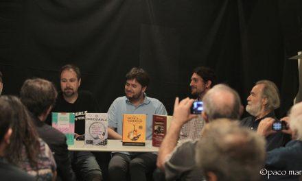 La música rock debate en Sin TarimaLibros de Madrid
