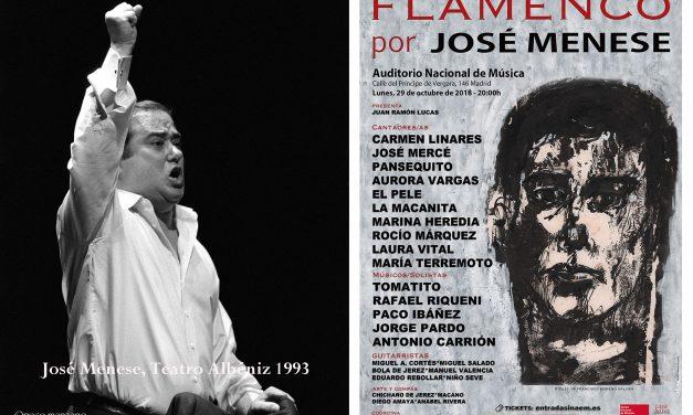 José Menese  recordado en el Auditorio Nacional de Música de Madrid.