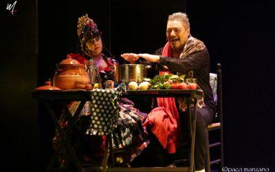 Maui cocina el potaje de Utrea en el Teatro Flamenco Madrid.