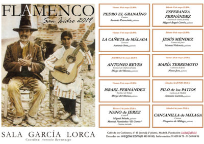 Cartel FLAMENCO en San Isidro 2019