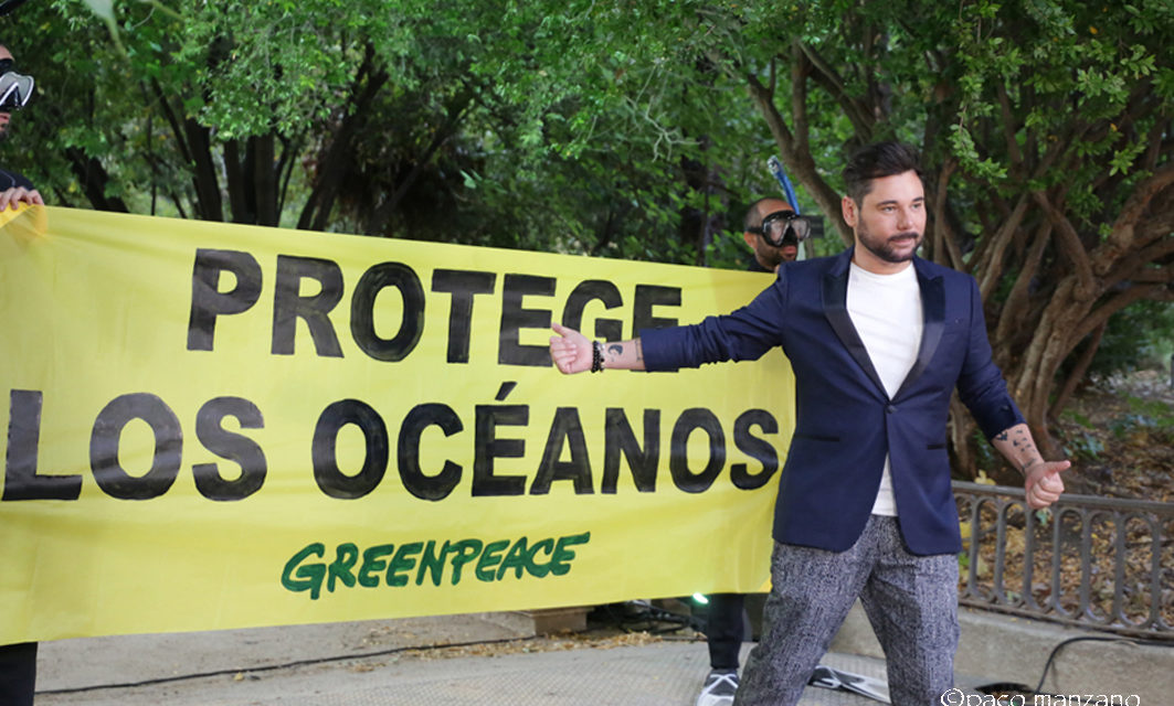 Greenpeace reunió anoche a más de 100 personalidades del mundo de la culturapara pedir la protección de los océanos