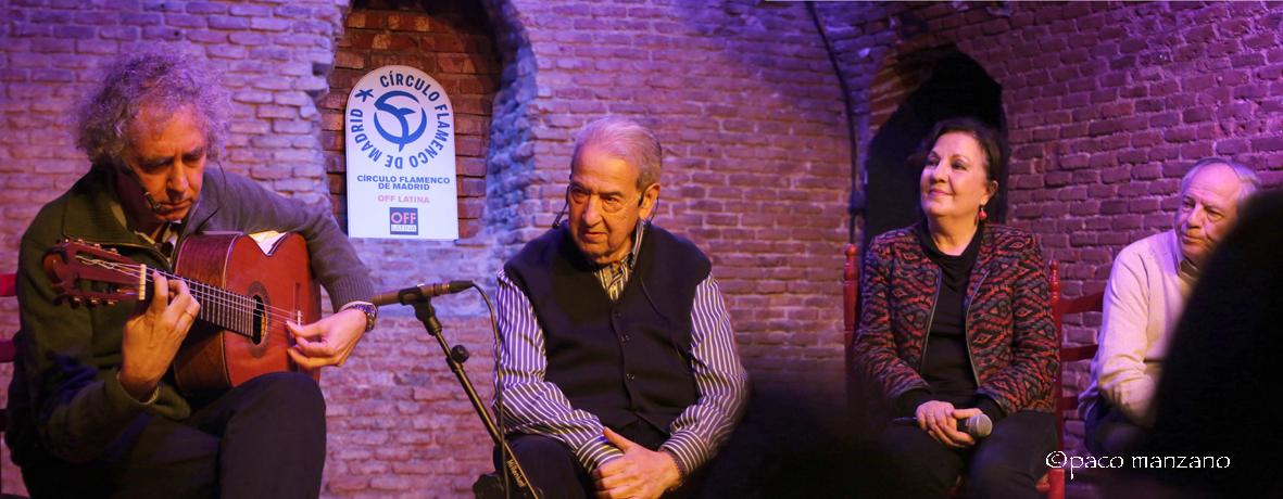 Perico del Lunar encuentro en el Circulo Flamenco de Madrid.