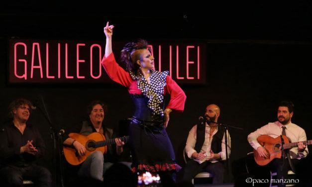 """Oscar Gallardo y su """"Petit Comite Flamenco&La Niña Ladrillo"""" en la sala Galileo de Madrid."""