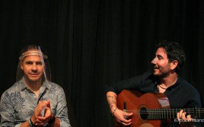 Paco del Pozo y Paco Vidal en el Café Cantante de la Fundación Casa Patas.